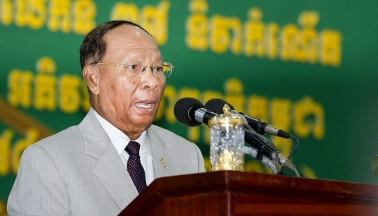 Cambodian NA President Heng Samrin begins official visit to Vietnam hinh anh 1