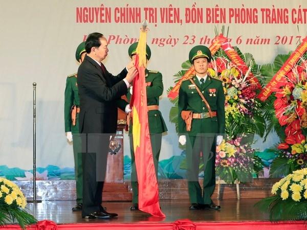 President Tran Dai Quang presents title to Hai Phong border guards hinh anh 1
