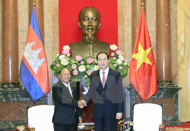 President hails Cambodian NA President's visit hinh anh 1
