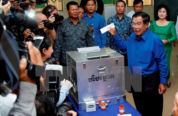 Cambodia announces results of communal elections hinh anh 1