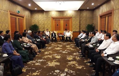 Cambodian top legislator welcomed in Hanoi hinh anh 1