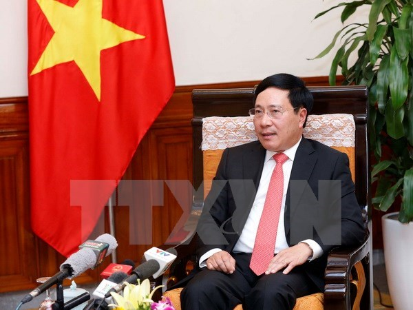 Deputy PM Pham Binh Minh gives interview on Vietnam-Cambodia relations hinh anh 1