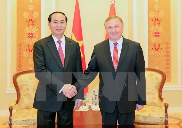 President Tran Dai Quang seeks more investment projects with Belarus hinh anh 1