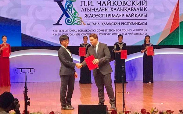 Tchaikovsky competition honours Vietnamese violin prodigy hinh anh 1