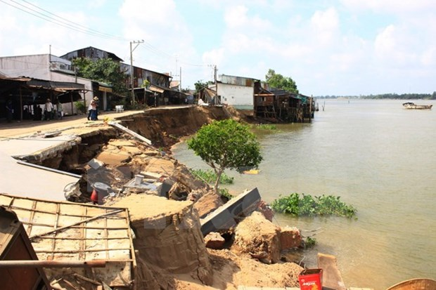 Mekong blighted by river erosion hinh anh 1