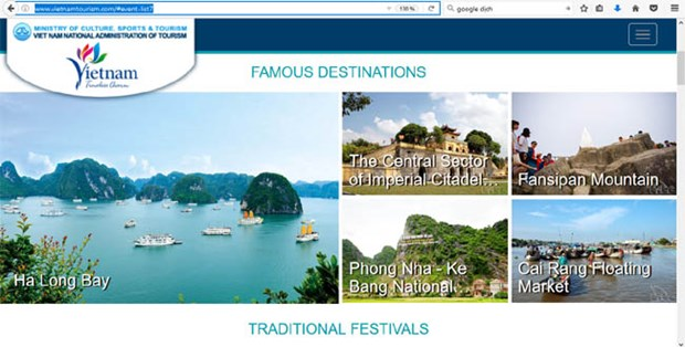 New look for Vietnam tourism website hinh anh 1
