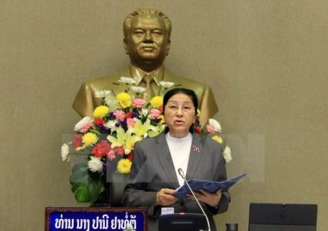 Lao NA Chairwoman begins Vietnam visit hinh anh 1