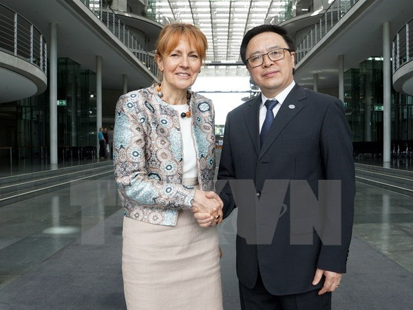 Vietnamese, German parties hold sixth dialogue in Berlin hinh anh 1