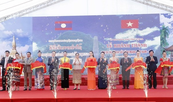 Vietnam-Laos historical relic site inaugurated hinh anh 1