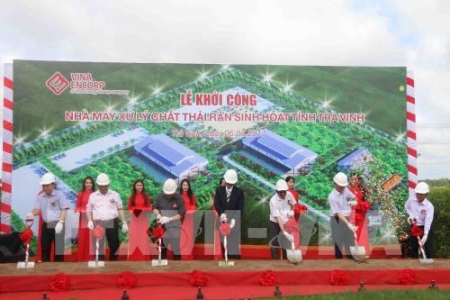 Work starts on household solid waste treatment plant in Tra Vinh hinh anh 1