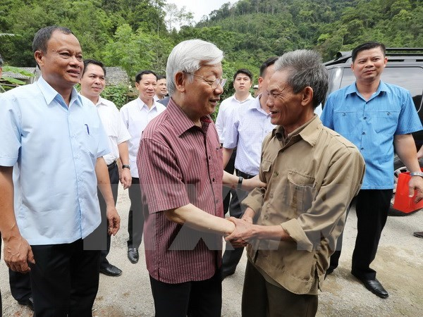 Party leader urges Bac Kan to focus on infrastructure development hinh anh 1