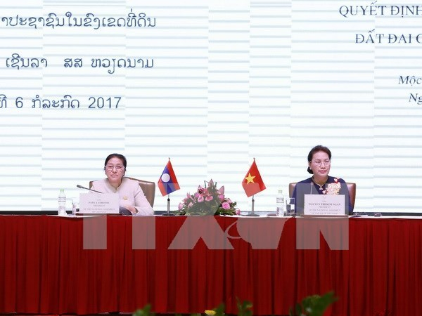 Vietnam, Laos share experience on land management hinh anh 1