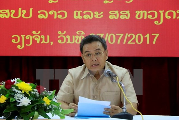 Lao official hails Vietnamese community's contributions hinh anh 1