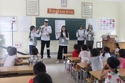 RoK's Youngsan University students volunteer in Nghe An hinh anh 1