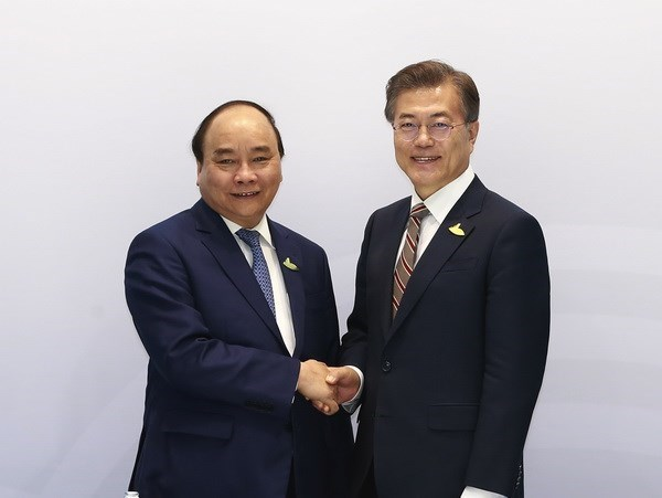 Vietnamese PM meets leaders of RoK, Australia in Hamburg hinh anh 1
