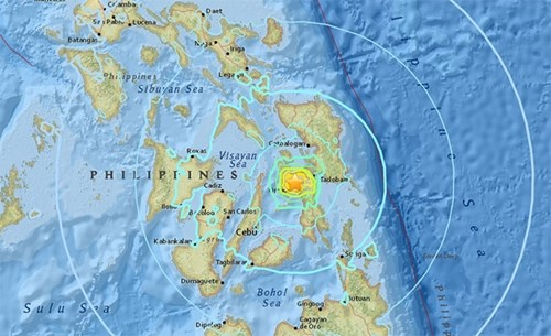 5.9-magnitude quake shakes central Philippine island hinh anh 1