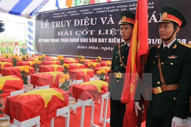 Memorial services held for soldiers killed in Bien Hoa airport battle hinh anh 1