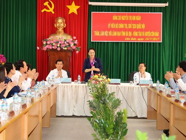NA Chairwoman visits Con Dao ahead of Martyrs' Day hinh anh 1