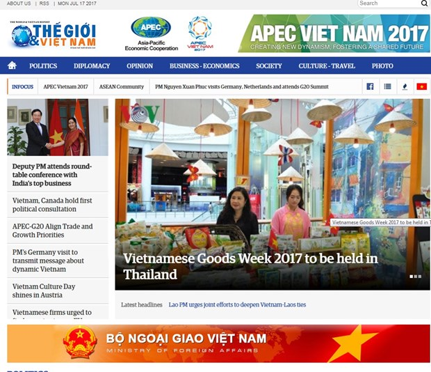 Foreign ministry's newspaper debuts English online version hinh anh 1