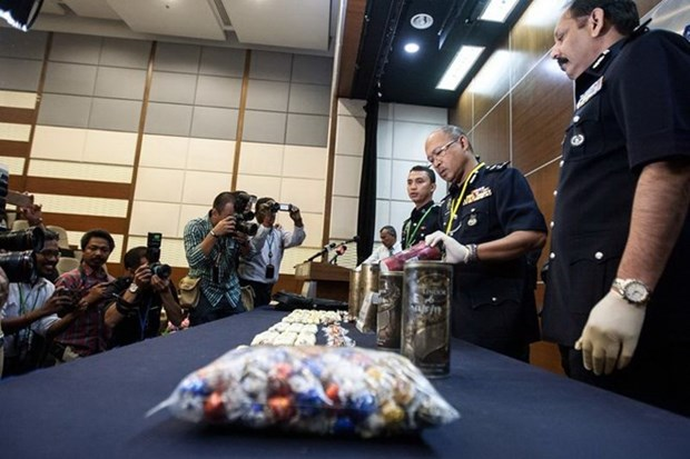 Malaysian police busts big transnational drug ring hinh anh 1