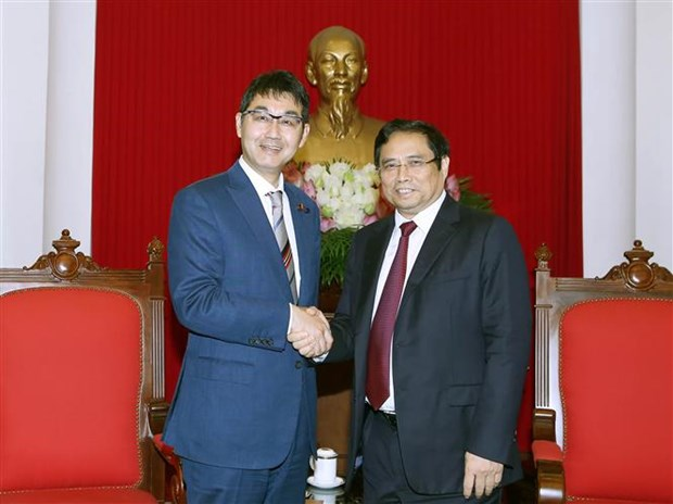 Party official greets special advisor to Japanese PM hinh anh 1
