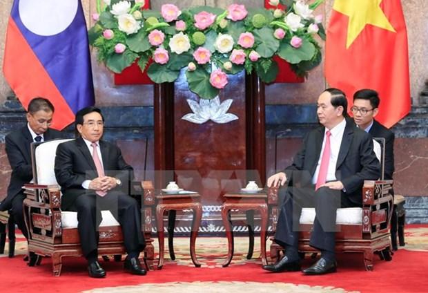 President Tran Dai Quang hails Lao Vice President's visit hinh anh 1