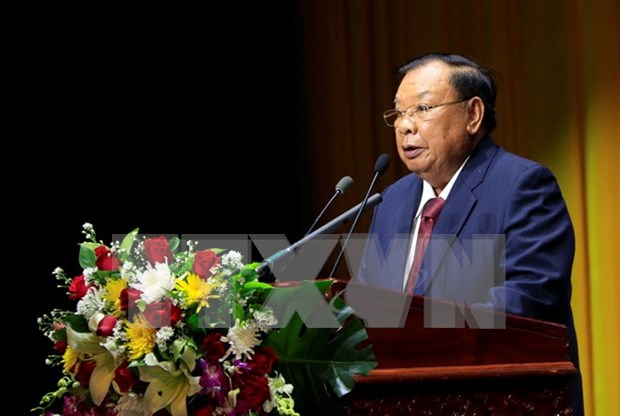 Laos celebrates Vietnam-Laos relationship in grand ceremony hinh anh 1