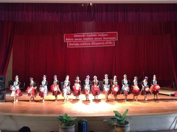 Lao artists perform in northern Vietnam hinh anh 1