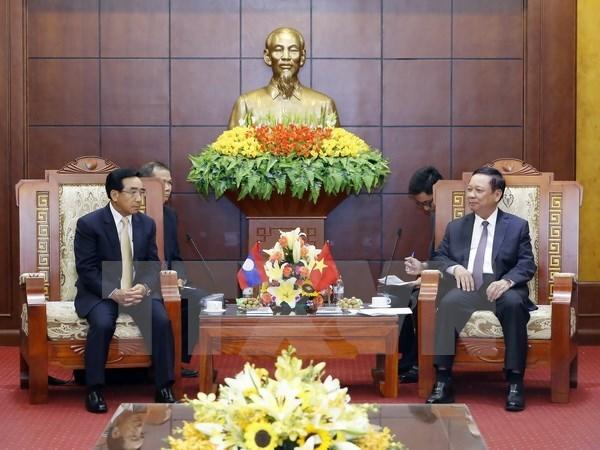 Lao Vice President visits Hoa Binh hinh anh 1