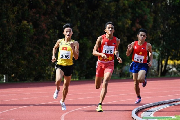 Track-and-field athletes pocket more golds at ASG hinh anh 1