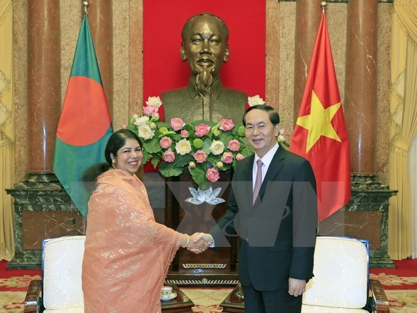 President hosts Bangladesh Parliament Speaker hinh anh 1