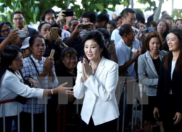 Thai ex-PM attends hearing for rice-pledging scheme hinh anh 1