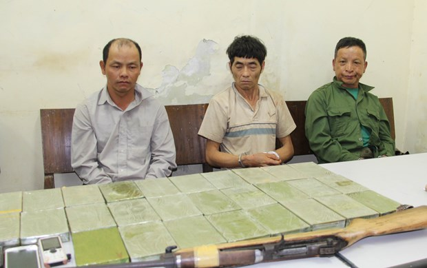 Son La police arrest three drug dealers, seize 28 heroin bricks hinh anh 1
