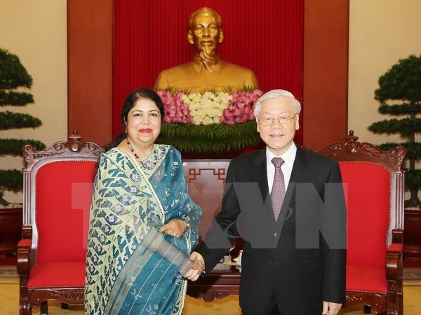 Party chief hosts Speaker of Bangladeshi Parliament hinh anh 1