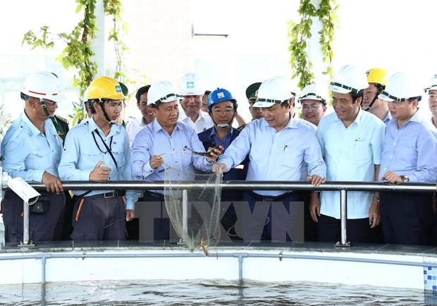 PM inspects Formosa's waste treatment system hinh anh 1