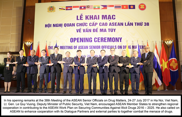 ASEAN Senior Officials' Meeting on Drug Matters opens in Hanoi hinh anh 1