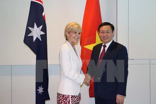 Deputy PM meets Australian officials to promote bilateral partnership hinh anh 1