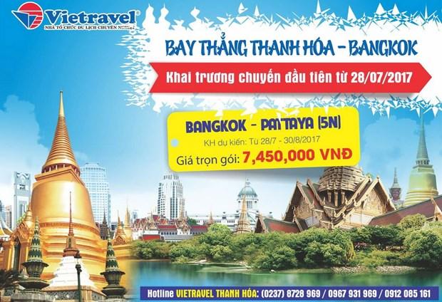 Vietravel launches Thanh Hoa-Bangkok air route hinh anh 1