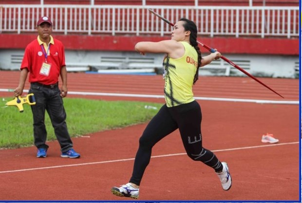 Vietnamese athletes set two records in international event hinh anh 1