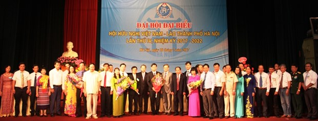 Vietnam-Laos Friendship Association of Hanoi holds fourth congress hinh anh 1