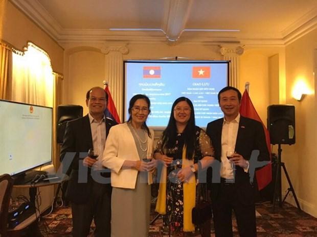 Vietnam-Laos friendship exchange held in UK hinh anh 1