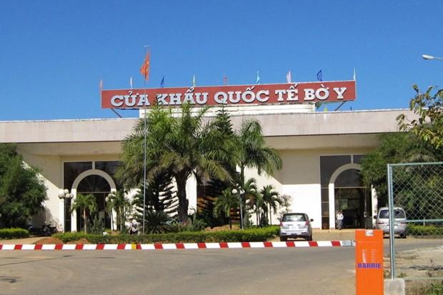 Kon Tum, Lao southern localities enjoy fruitful cooperation hinh anh 1