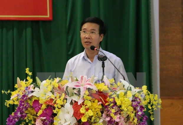 Vietnam, Laos Parties share experience in sustainable development hinh anh 1