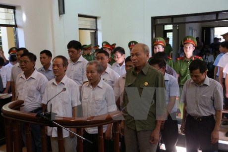 Trial held on violations of land management law in Dong Tam commune hinh anh 1