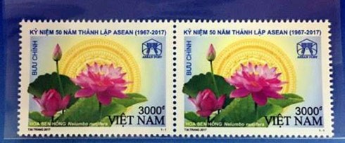 Postage stamp issued on ASEAN's 50th founding anniversary hinh anh 1