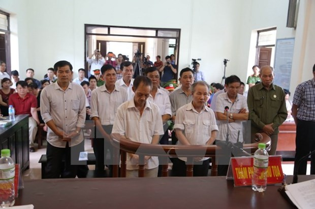 Court pronounces sentences in Dong Tam land case hinh anh 1