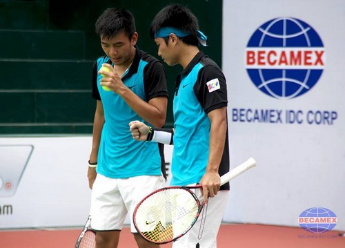 Vietnamese duo qualify for Thailand F5 Futures' quarter-finals hinh anh 1