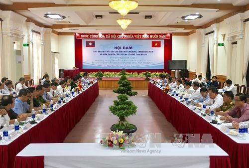 Vietnamese, Lao provinces step up multifaceted cooperation hinh anh 1