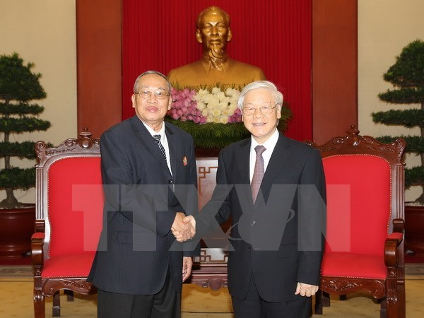 Vietnam treasures ties with Cambodia: Party chief hinh anh 1