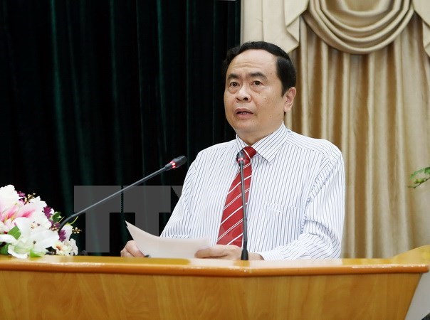 Vietnamese, Lao fronts discuss enhancing ties hinh anh 1